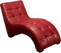 Icon Curved Red Chaise|Fauteuil long courbé Icon rouge