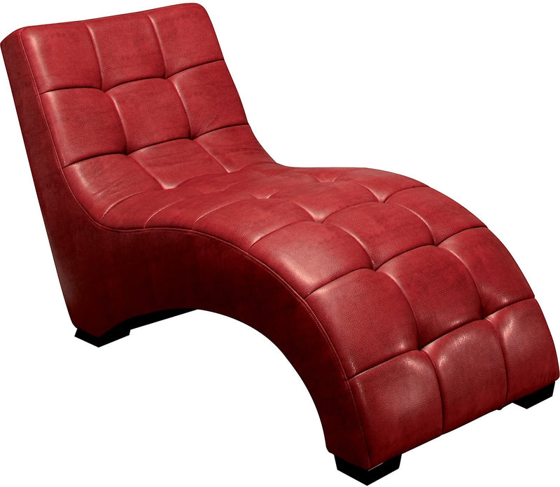 Icon Curved Red Chaise - Modern style Chaise in Red