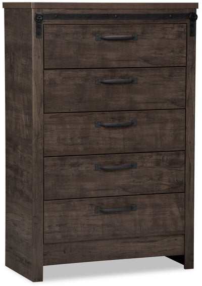 Grayson Chest - {Rustic} style Chest in Rich Dark Grey {Engineered Wood}