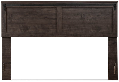 Grayson King Headboard - {Rustic} style Headboard in Rich Dark Grey {Engineered Wood}