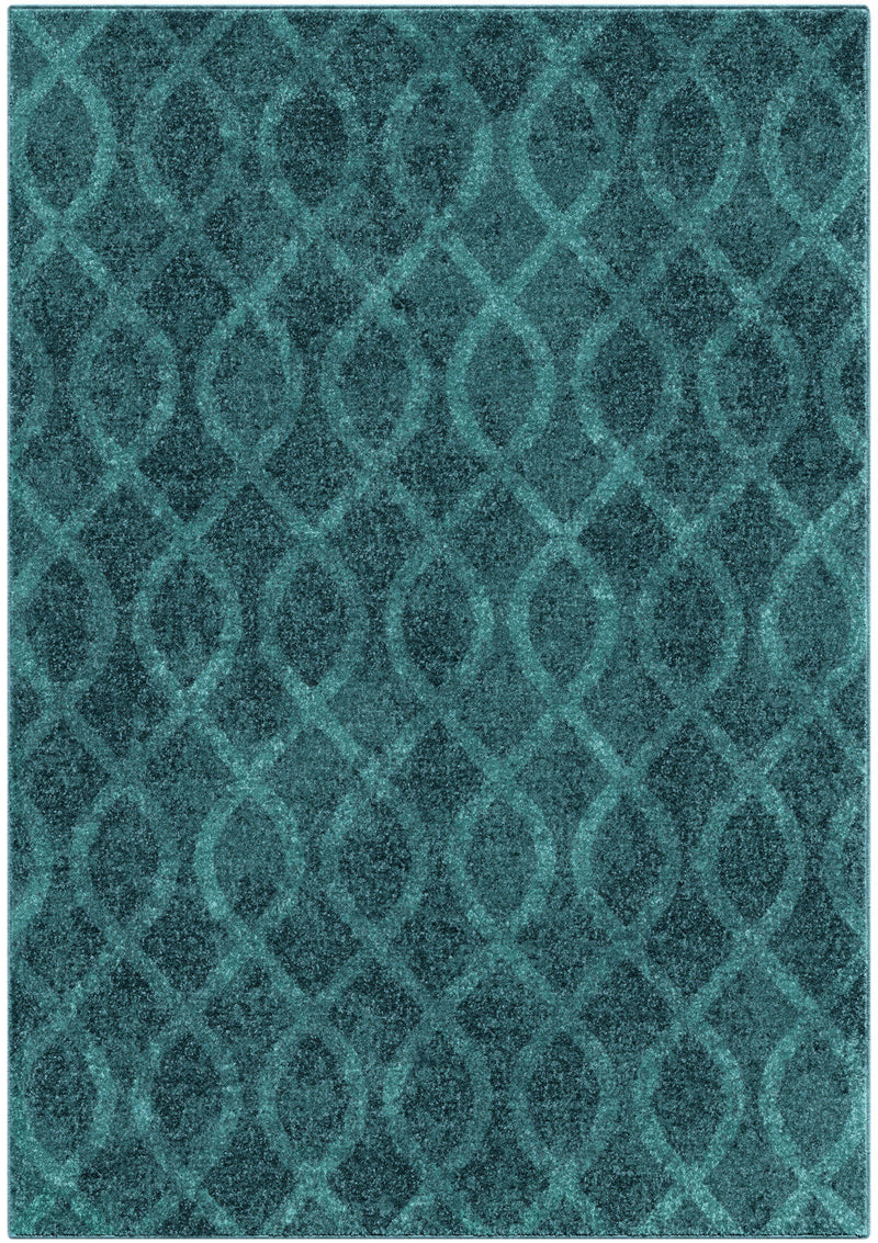 Geo Loop Blue Area Rug – 8' x 11'|Carpette Geo Loop bleue - 8 pi x 11 pi|GEOLOOP8