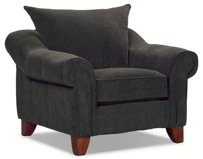 Reese Chenille Chair - Dark Grey - Contemporary style Chair in Dark Grey