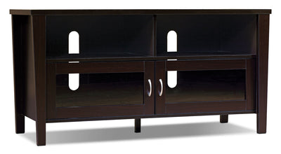 "Bailey 47"" TV Stand – Coffee Bean - Contemporary style TV Stand in Coffee Bean Medium Density Fiberboard"
