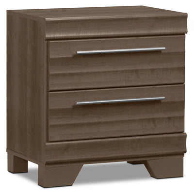 Olivia Nightstand - Grey - Modern style Nightstand in Grey Engineered Wood and Laminate Veneers