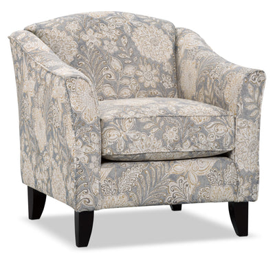 Wynn Fabric Accent Chair – Morning Dew - Traditional style Chair in Morning Dew