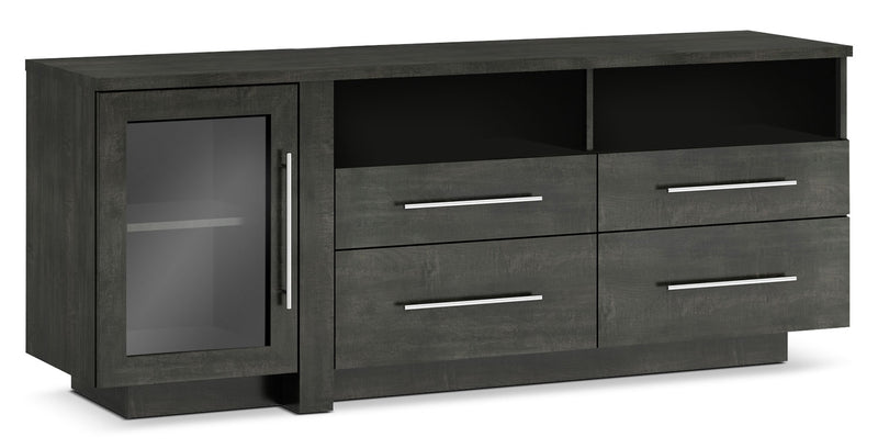 "Arklow 69"" TV Stand - Modern style TV Stand in Anthracite Wood"