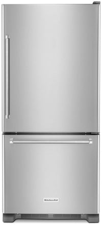KitchenAid 19 Cu. Ft. Bottom-Mount Refrigerator – KRBR109ESS