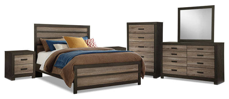Harlinton 8-Piece Queen Bedroom Package|Ensemble de chambre à coucher Harlinton 8 pièces avec grand lit|HARLCQP8