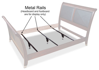Deluxe Full/Queen/King Metal Support Rails – Set of 3 - Black Bed Frame