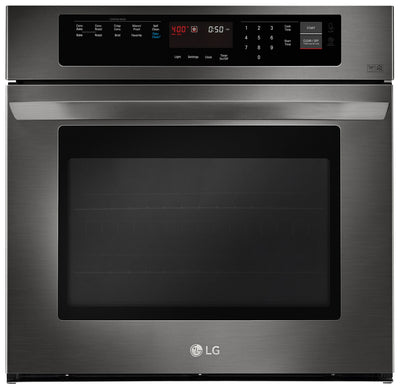 LG 4.7 Cu. Ft. Single Wall Oven – LWS3063BD - Electric Wall Oven in Black Stainless Steel
