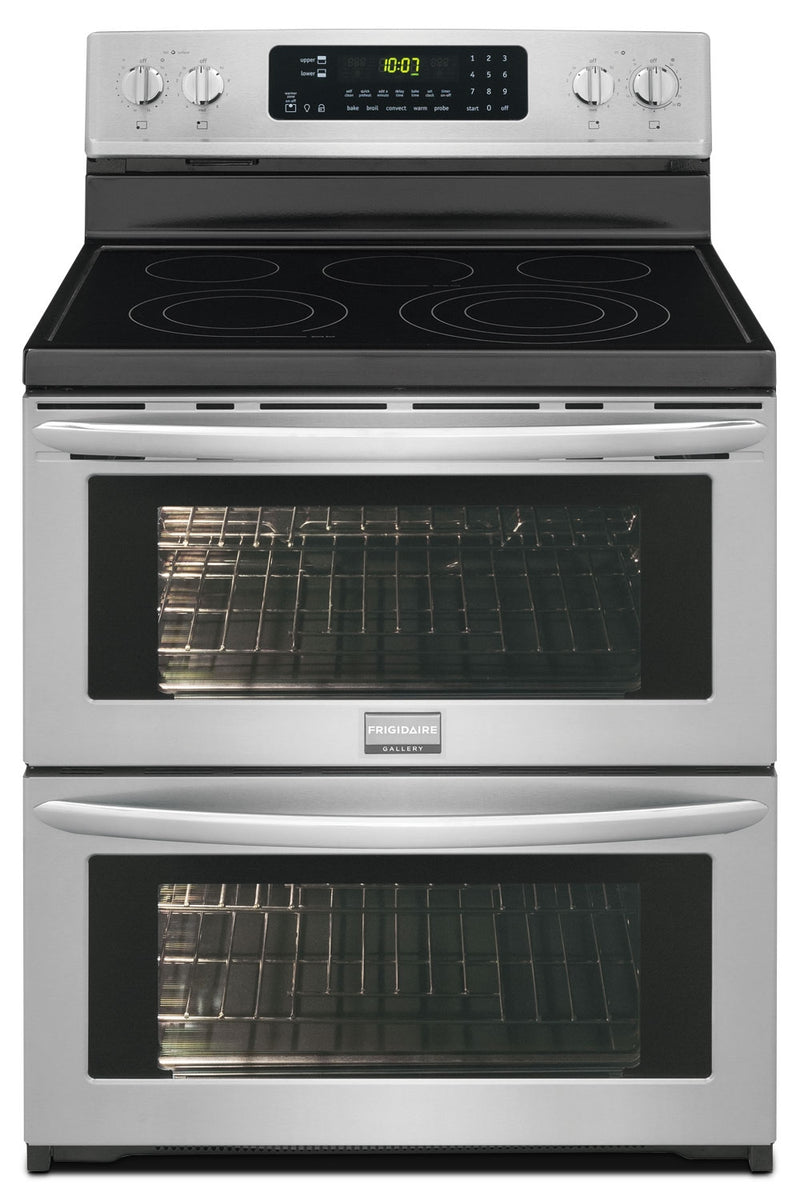 Frigidaire 7.2 Cu. Ft. Freestanding Electric Double-Oven Range – Stainless Steel|Cuisinière électrique amovible Frigidaire de 7,2 pi3 à double four - acier inoxydable