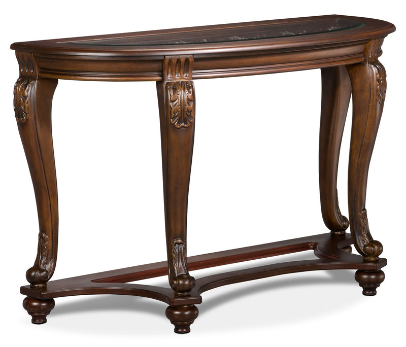 Valencia Sofa Table - Traditional style Sofa Table in Dark Brown Wood