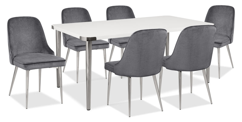 Manhattan 7-Piece Dining Package – Grey|Ensemble de salle à manger Manhattan 7 pièces - gris