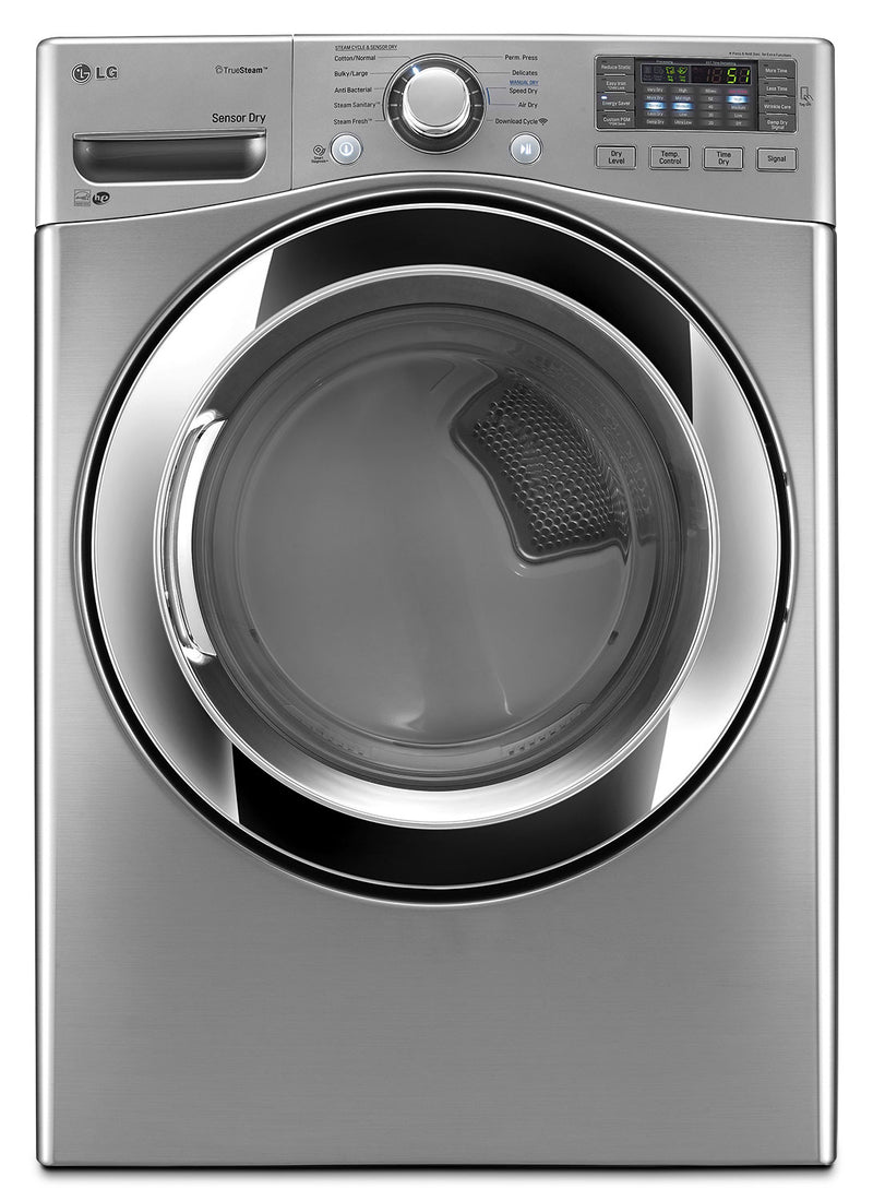 LG 7.4 Cu. Ft. Ultra-Large Capacity Electric SteamDryer™ – Graphite Steel|Sécheuse électrique SteamDryer(MC) de LG à très grande capacit