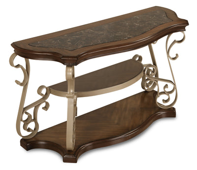 Heidi Sofa Table  - Traditional style Sofa Table in Brown and champagne Medium Density Fibreboard (MDF)