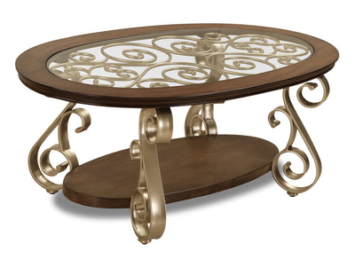 Henry Coffee Table  - Traditional style Coffee Table in Champagne, brown Medium Density Fibreboard (MDF)
