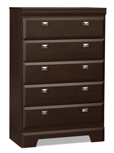Yorkdale Chest - Contemporary style Chest in Dark Brown Engineered Wood and Laminate Veneers
