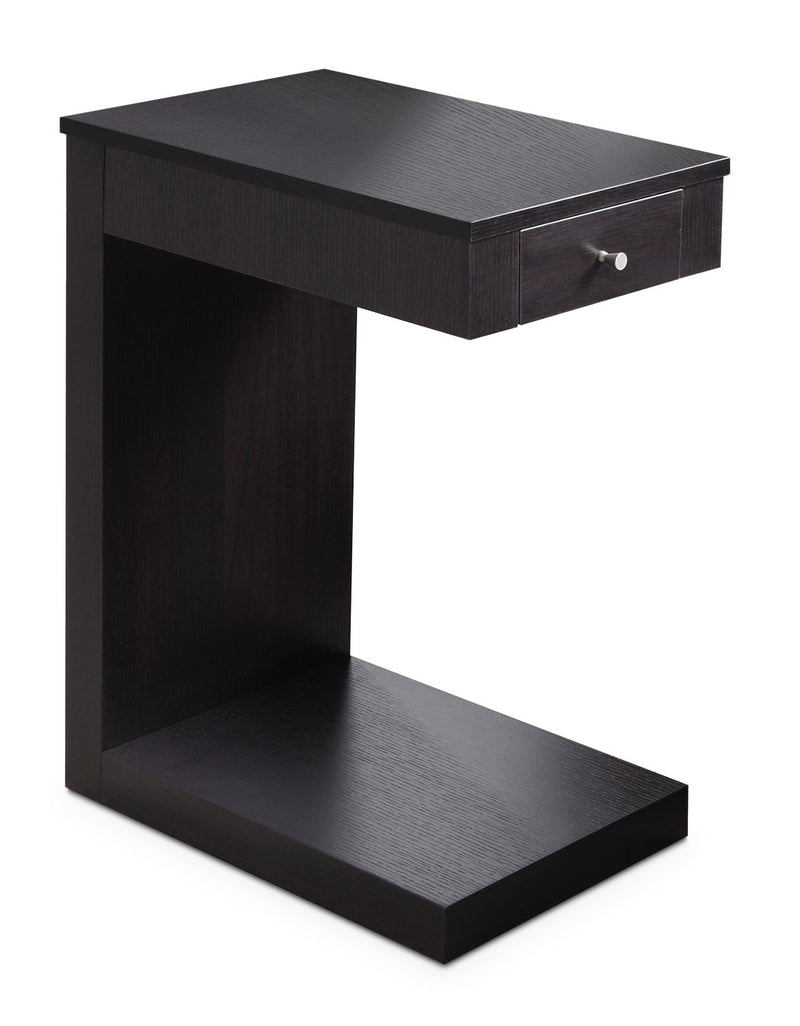 Hampshire Accent Table – Cappuccino - Modern style End Table in Dark Brown Wood