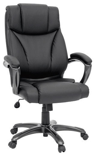 Columbus Black Bonded Leather Executive Chair - Traditional style Office Chair in Black