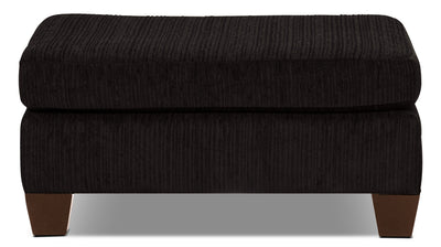 Putty Chenille Ottoman - Chocolate - Contemporary style Ottoman in Chocolate