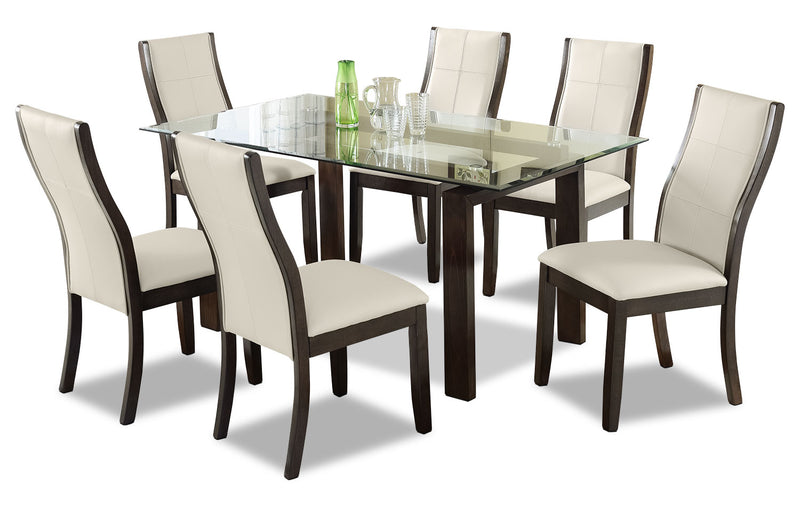 Tyler 7 Piece Dining Package Taupe