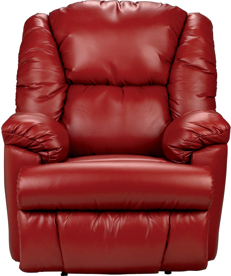 Bmaxx Bonded Leather Power Reclining Chair – Red|Fauteuil à inclinaison électrique Bmaxx en cuir contrecollé – rouge