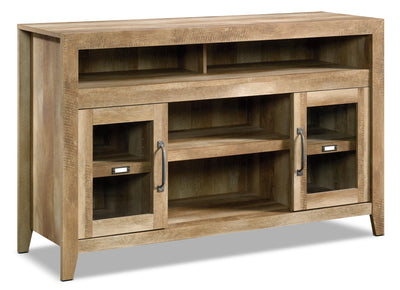 "Dakota Pass 59"" TV Stand – Craftsman Oak - Contemporary style TV Stand Wood"