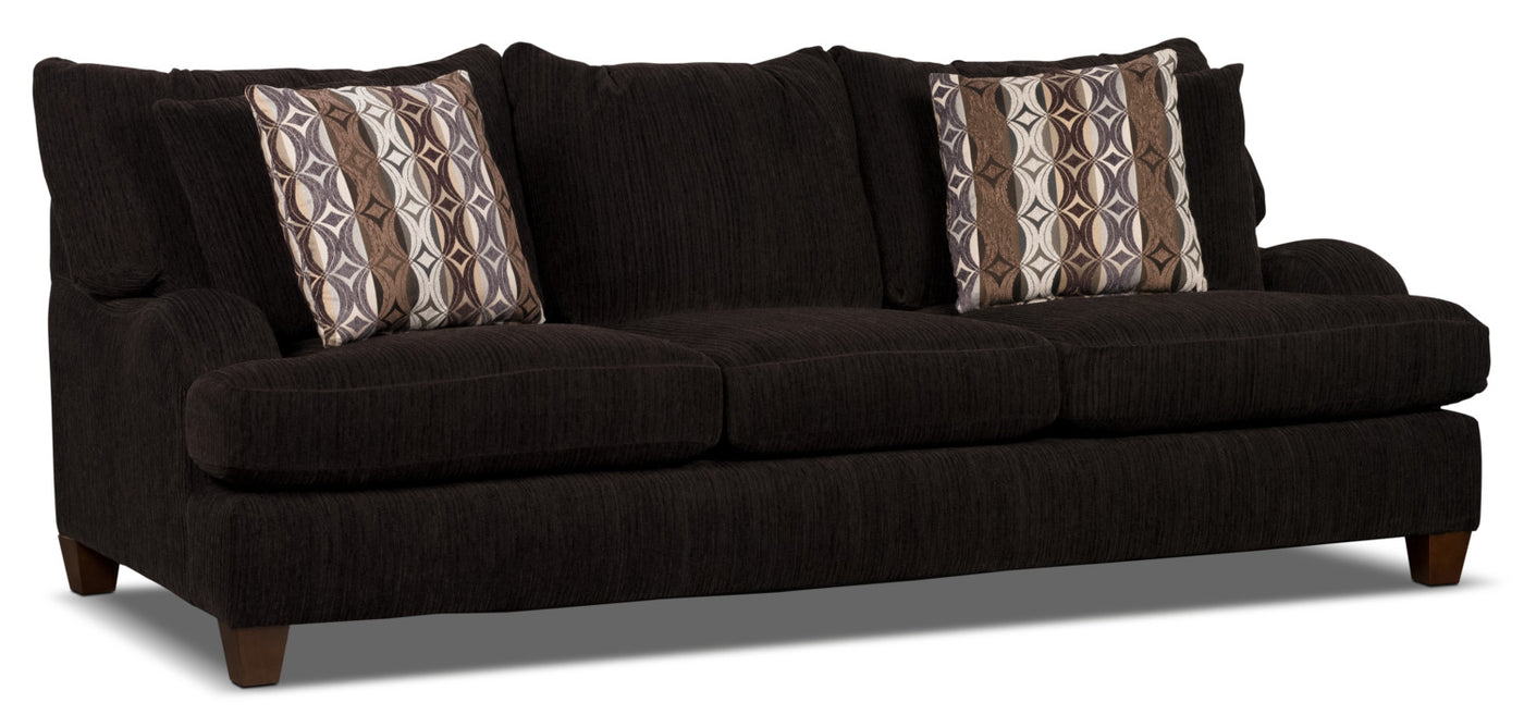 Putty Chenille Queen Size Sofa Bed Chocolate