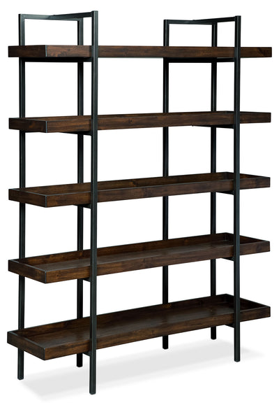Strathmore Bookcase - Industrial style Bookcase in Dark Brown Metal and Wood