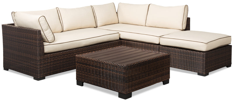 Loughran 4-Piece Patio Sectional Set|Ensemble de sofa sectionnel Loughran 4 pièces pour la terrasse