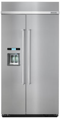 KitchenAid 25.5 Cu. Ft. Built-In Side-by-Side Refrigerator – KBSD602ESS