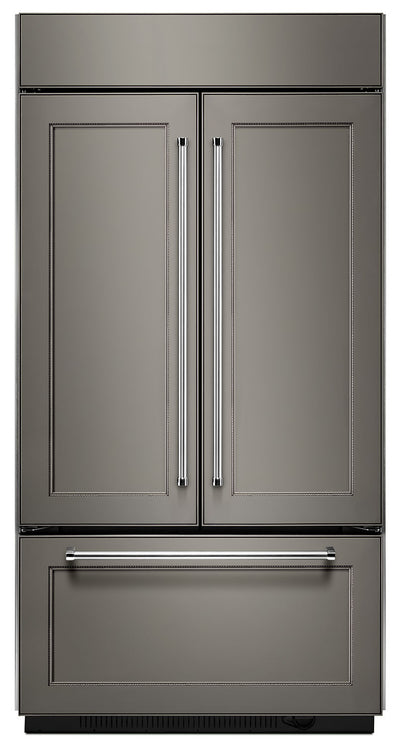 KitchenAid 24.2 Cu. Ft. Built-In French-Door Refrigerator – Panel Ready KBFN502EPA - Refrigerator in Panel Ready