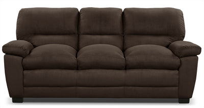 Peyton Microsuede Sofa - Chocolate - Contemporary style Sofa in Chocolate