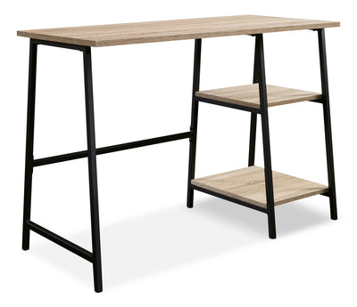 North Avenue Desk - Industrial style Desk in Black/Brown Metal and Wood