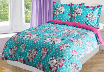 Paris 2-Piece Twin Comforter Set - Multi Coloured Comforter Set