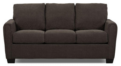 Spa Collection Chenille Full-Size Sofa Bed – Charcoal|Sofa-lit double de la collection Spa en chenille avec matelas - anthracite|SPAF2RSB