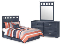 Leo 3-Piece Full Panel Headboard Package