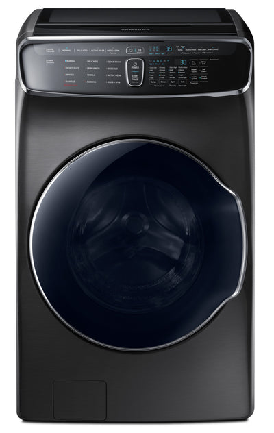 Samsung 6.9 Cu. Ft. FlexWash™ Steam Washer – WV60M9900AV/A5 - Washer in Black Stainless Steel