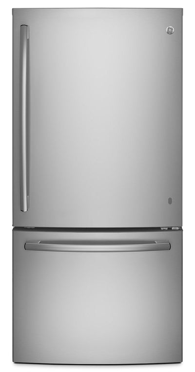 GE 24.9 Cu. Ft. Bottom-Mount Refrigerator – GDE25ESKSS - Refrigerator with Ice Maker in Stainless Steel