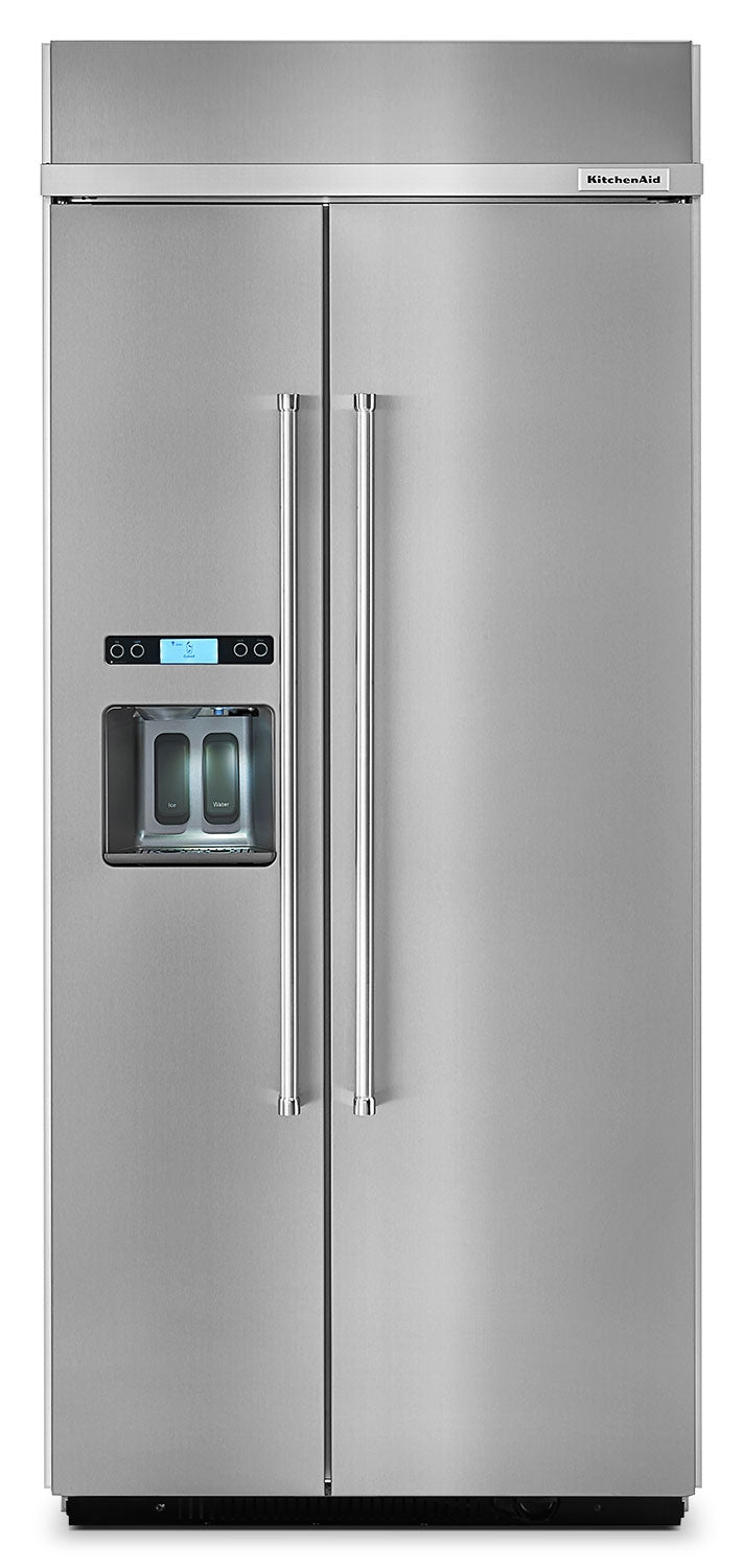 Kitchenaid 20 8 Cu Ft Built In Side By Side Refrigerator