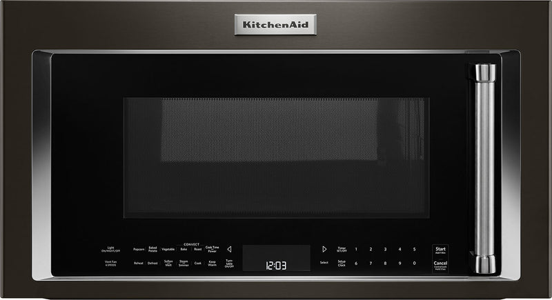 KitchenAid 1.9 Cu. Ft. 1,000 W Convection Microwave Hood Combination – YKMHC319EBS - Over-the-Range Microwave with Steam in Black Stainless Steel