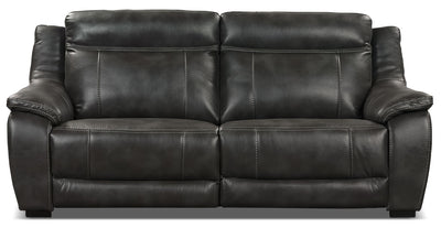 Novo Leather-Look Fabric Sofa – Grey - Modern style Sofa in Grey