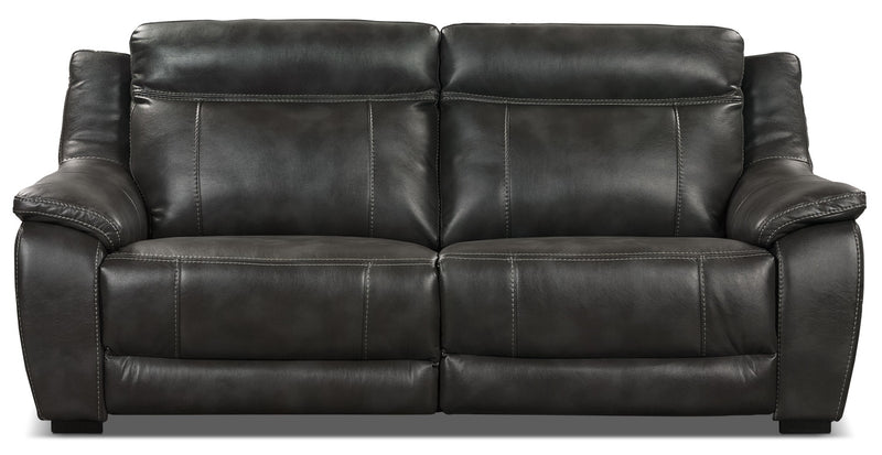 Novo Leather-Look Fabric Sofa – Grey|Sofa Novo en tissu d'apparence cuir - gris|NOVOGYSF