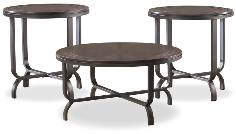 Ferlin 3-Piece Coffee and Two End Tables Package|Ensemble de table à café et deux tables de bout Ferlin 3 pièces