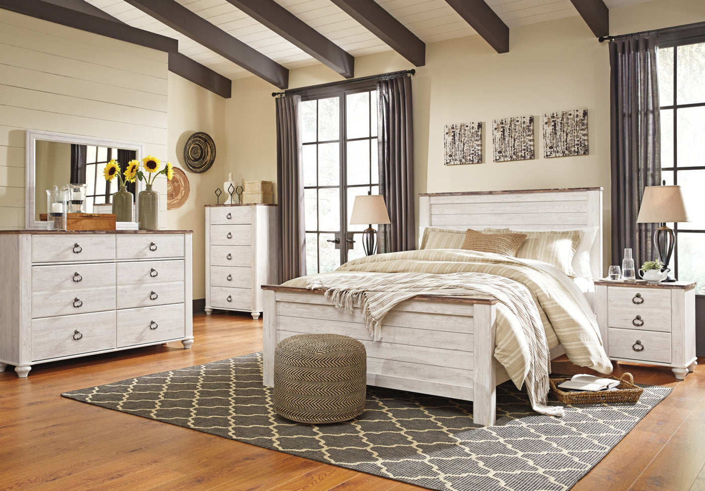 Willowton piece queen bedroom package the brick