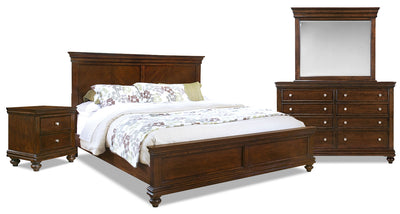 Bridgeport 6-Piece King Bedroom Set|Ensemble de chambre à coucher Bridgeport 6 pièces avec trés grand lit|881KPK6