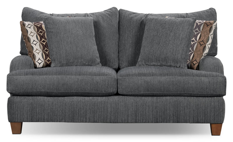 Putty Chenille Studio-Size Loveseat – Grey|Causeuse Putty de format condo en chenille - grise