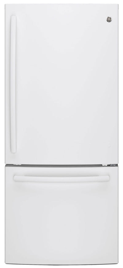 GE 20.9 Cu. Ft. Bottom-Freezer Refrigerator – GBE21AGKWW - Refrigerator in White