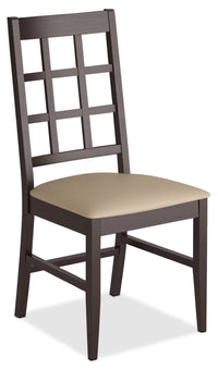 Atwood Dining Chair with Faux Leather Seat - Grey