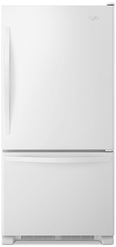 Whirlpool 19 Cu. Ft. Bottom-Freezer Refrigerator - WRB329DFBW - Refrigerator in White